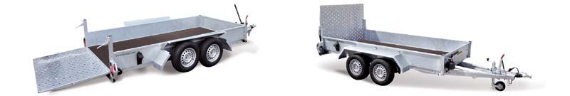 speciální přepravníky s hydraulickými nápravami pro stroje s minimální prostupností